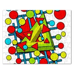 Crazy geometric art Rectangular Jigsaw Puzzl