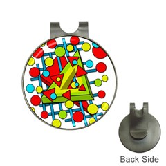 Crazy geometric art Hat Clips with Golf Markers