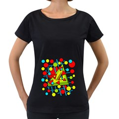 Crazy Geometric Art Women s Loose Fit T Shirt (black)