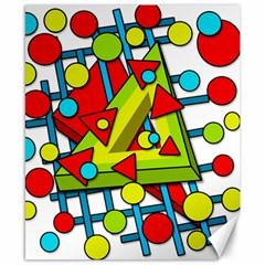 Crazy geometric art Canvas 8  x 10