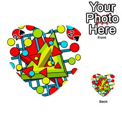 Crazy geometric art Playing Cards 54 (Heart)