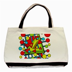 Crazy geometric art Basic Tote Bag (Two Sides)