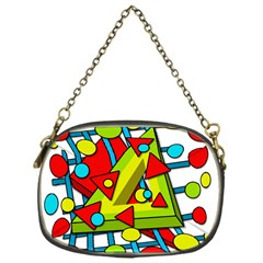 Crazy geometric art Chain Purses (One Side)