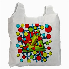 Crazy geometric art Recycle Bag (One Side)