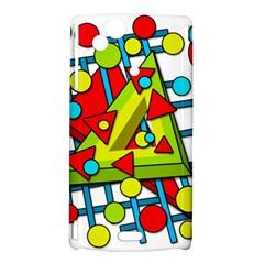 Crazy geometric art Sony Xperia Arc