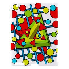 Crazy geometric art Apple iPad 3/4 Hardshell Case (Compatible with Smart Cover)