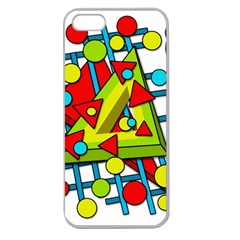 Crazy geometric art Apple Seamless iPhone 5 Case (Clear)