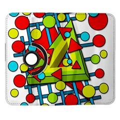 Crazy geometric art Samsung Galaxy Note II Flip 360 Case