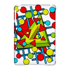 Crazy geometric art Apple iPad Mini Hardshell Case (Compatible with Smart Cover)