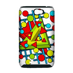 Crazy geometric art Samsung Galaxy Note 2 Hardshell Case (PC+Silicone)