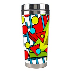 Crazy geometric art Stainless Steel Travel Tumblers