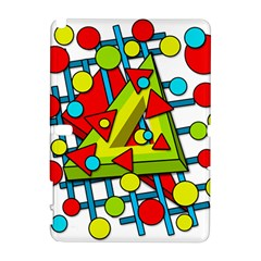 Crazy Geometric Art Samsung Galaxy Note 10 1 (p600) Hardshell Case