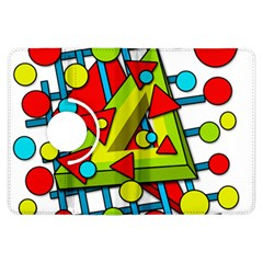 Crazy geometric art Kindle Fire HDX Flip 360 Case