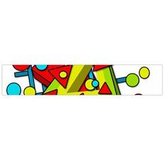 Crazy geometric art Flano Scarf (Large)
