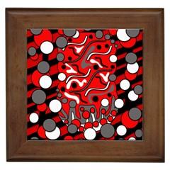 Red mess Framed Tiles