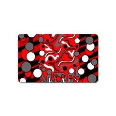Red mess Magnet (Name Card)