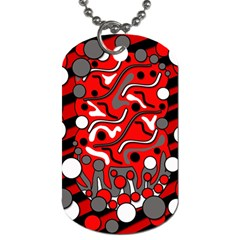 Red mess Dog Tag (One Side)