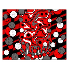 Red mess Rectangular Jigsaw Puzzl