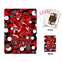Red mess Playing Card