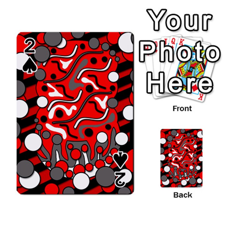 Red mess Playing Cards 54 Designs