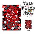 Red mess Playing Cards 54 Designs  Front - Diamond2