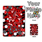 Red mess Playing Cards 54 Designs  Front - Diamond6