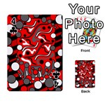 Red mess Playing Cards 54 Designs  Front - Club4