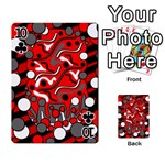 Red mess Playing Cards 54 Designs  Front - Club10