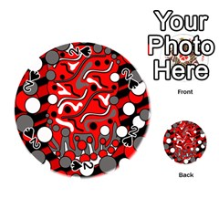 Red mess Playing Cards 54 (Round)