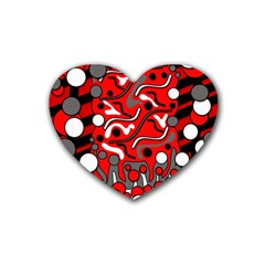 Red mess Rubber Coaster (Heart)