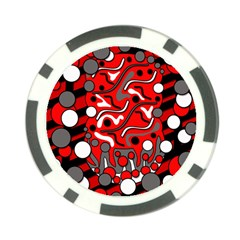 Red mess Poker Chip Card Guards