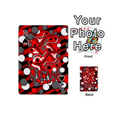 Red mess Playing Cards 54 (Mini)