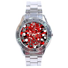 Red mess Stainless Steel Analogue Watch