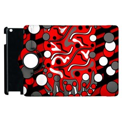 Red mess Apple iPad 3/4 Flip 360 Case
