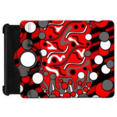 Red mess Kindle Fire HD Flip 360 Case