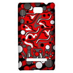 Red mess HTC 8S Hardshell Case