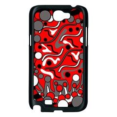 Red mess Samsung Galaxy Note 2 Case (Black)