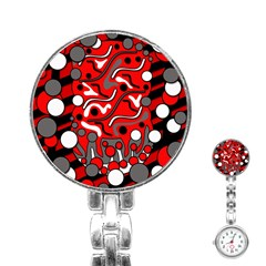 Red mess Stainless Steel Nurses Watch