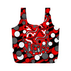 Red mess Full Print Recycle Bags (M)