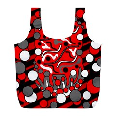 Red mess Full Print Recycle Bags (L)