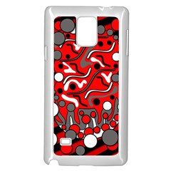 Red mess Samsung Galaxy Note 4 Case (White)