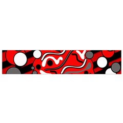 Red mess Flano Scarf (Small)