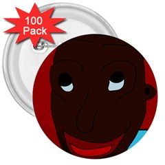 Happy boy 3  Buttons (100 pack)