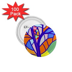 Decorative tree 4 1.75  Buttons (100 pack)