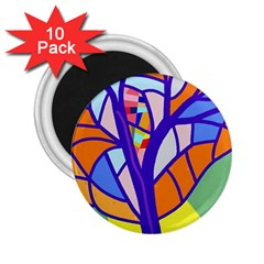 Decorative tree 4 2.25  Magnets (10 pack)