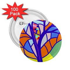 Decorative tree 4 2.25  Buttons (100 pack)