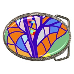 Decorative tree 4 Belt Buckles