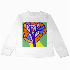Decorative tree 4 Kids Long Sleeve T-Shirts