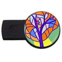 Decorative tree 4 USB Flash Drive Round (4 GB)