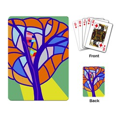 Decorative tree 4 Playing Card